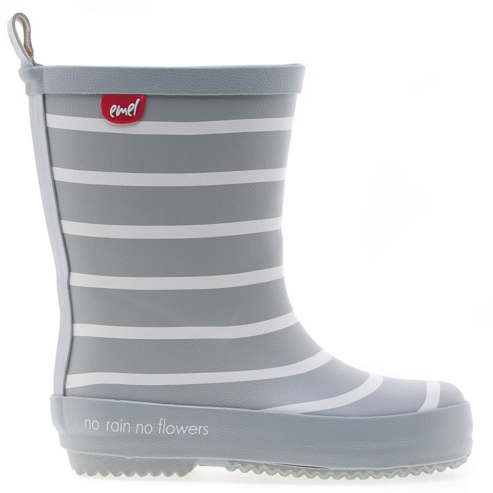 Emel rainboots grey striped
