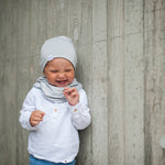 Reversible bamboo beanie - Light grey