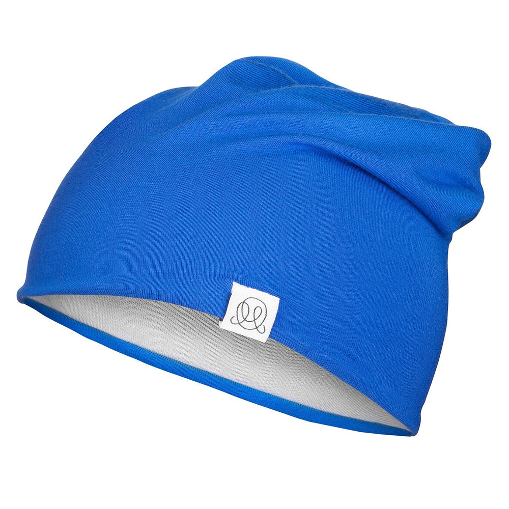 Reversible bamboo beanie Cobalt - Light Grey