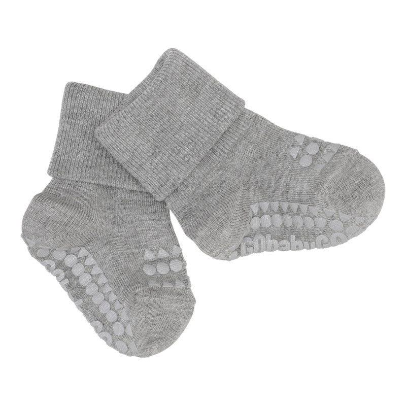 Anti-slip BAMBOO socks - grey