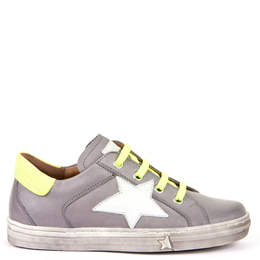 Froddo low velcro sneaker - grey star neon