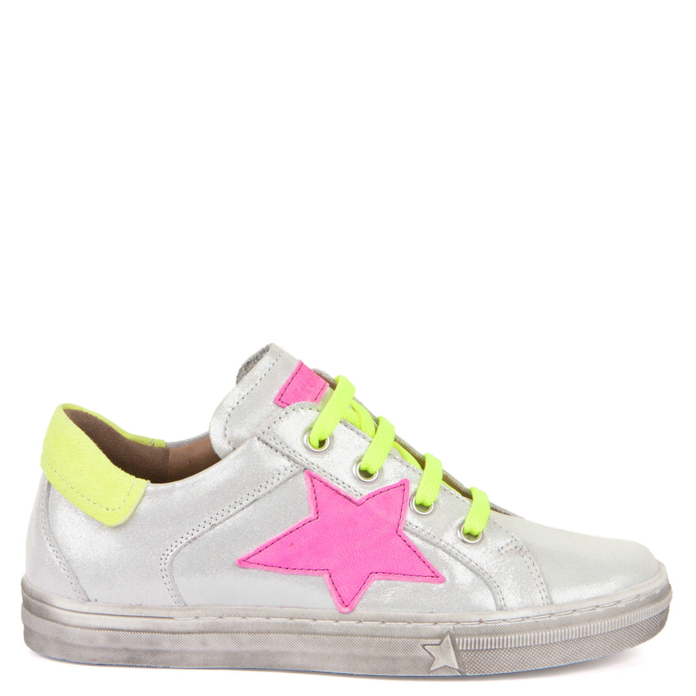 Froddo low velcro sneaker - white star
