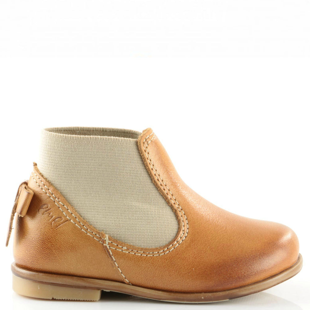 (2593-3) Emel brown boot with bow - MintMouse (Unicorner Concept Store)