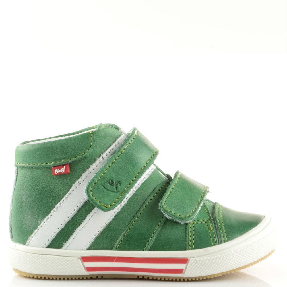 (1855-17) Emel Green Tennis with Velcro Straps