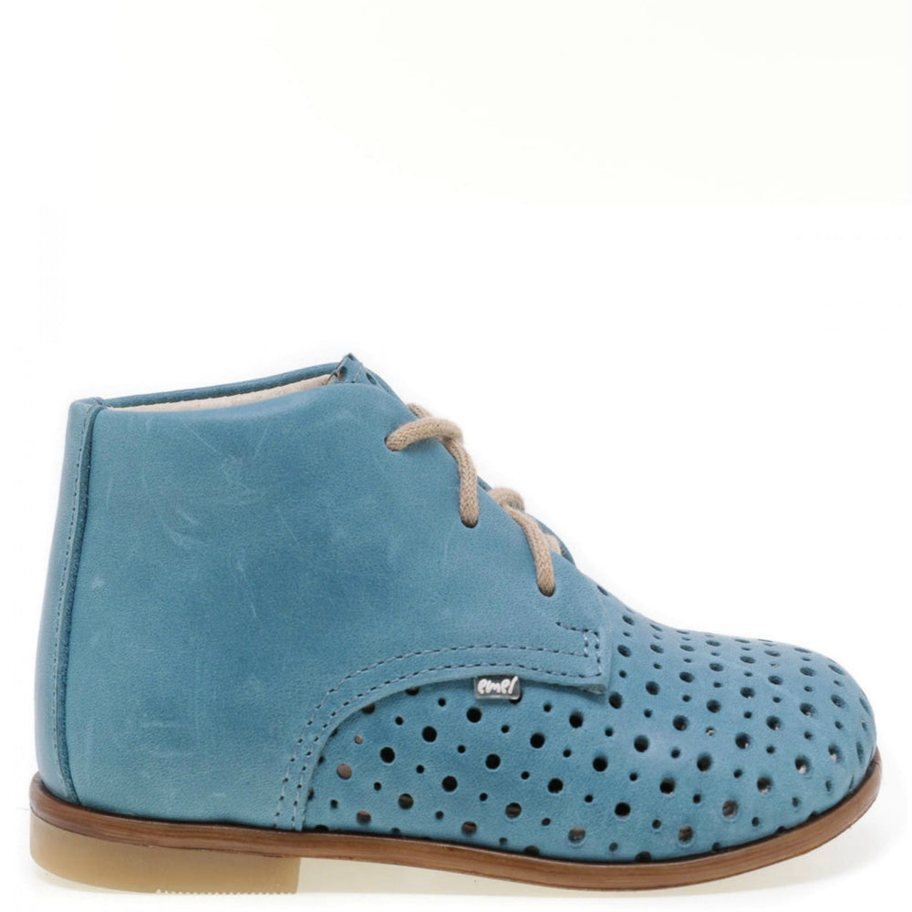 (1426-4) Emel perforated classic first shoes blue