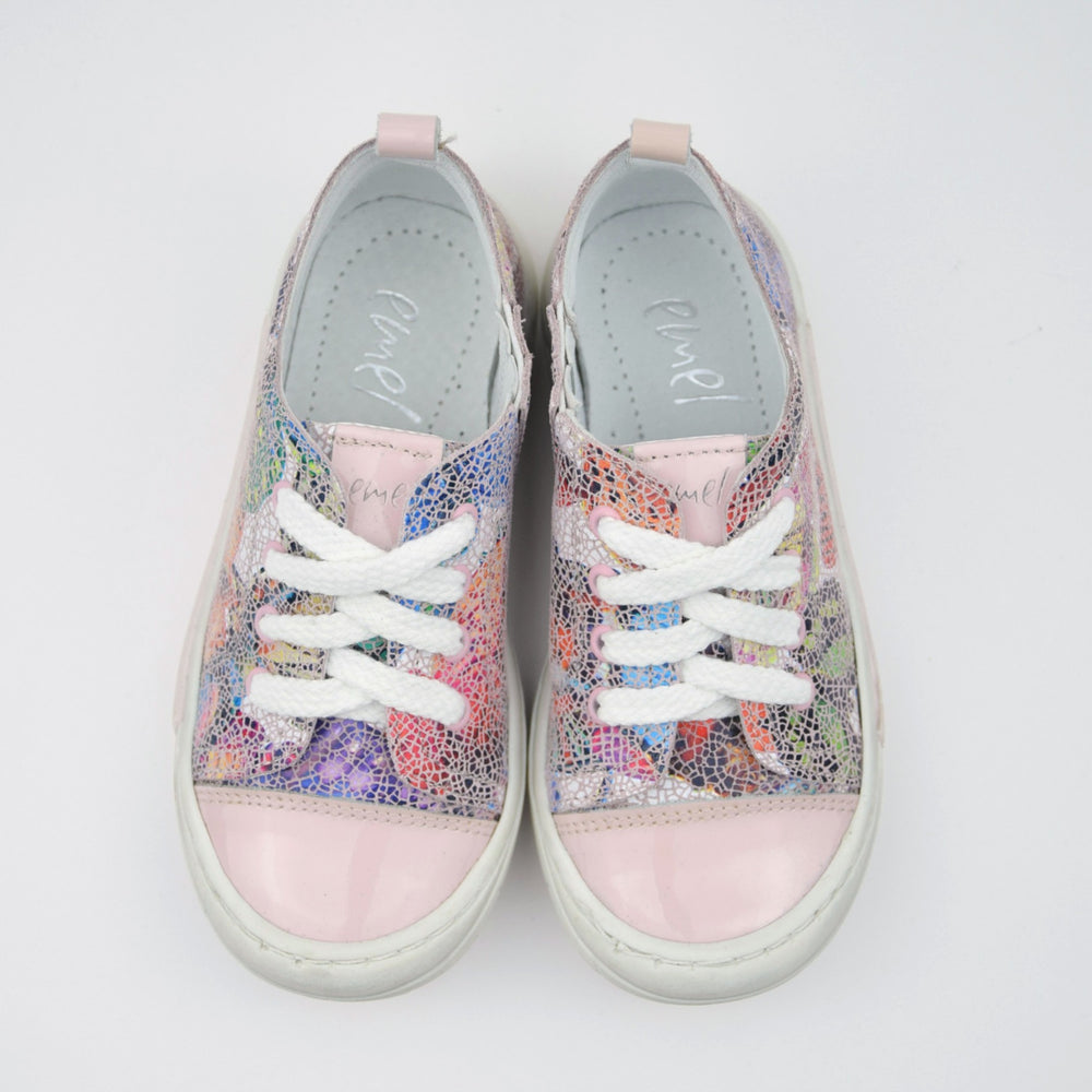 (2592-9) Low Lace Up Trainers gaudi print pink - MintMouse (Unicorner Concept Store)