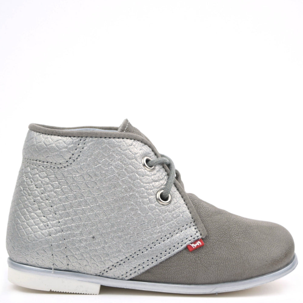 (2195A-4) Emel Grey Lace Up Classics