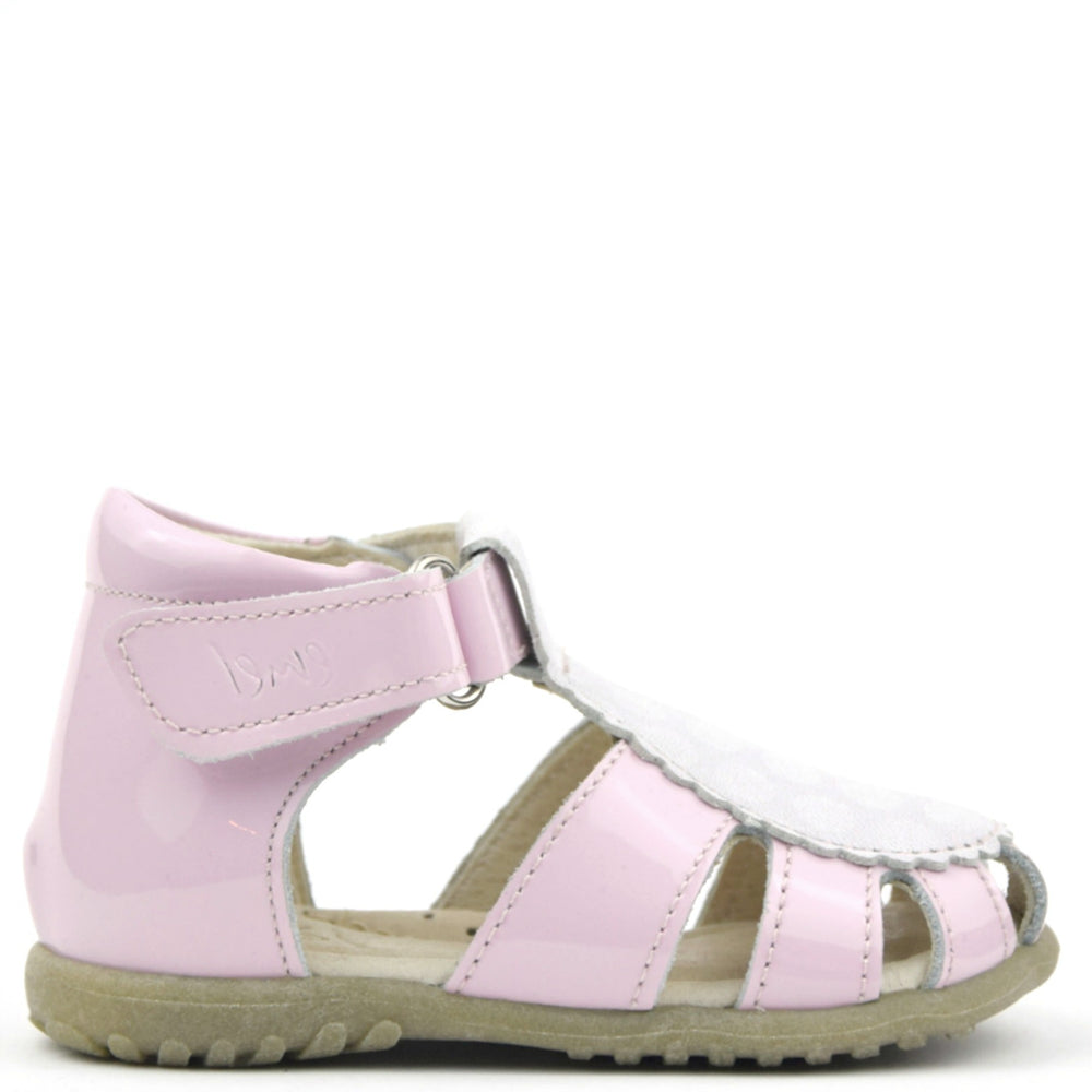 (1214B) Emel patent pink closed sandals