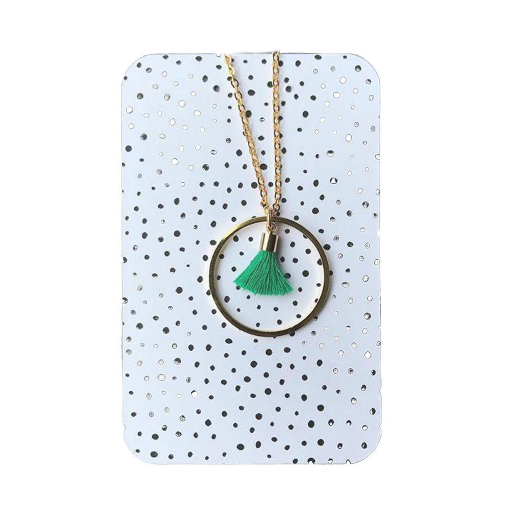 Circle tassle necklace