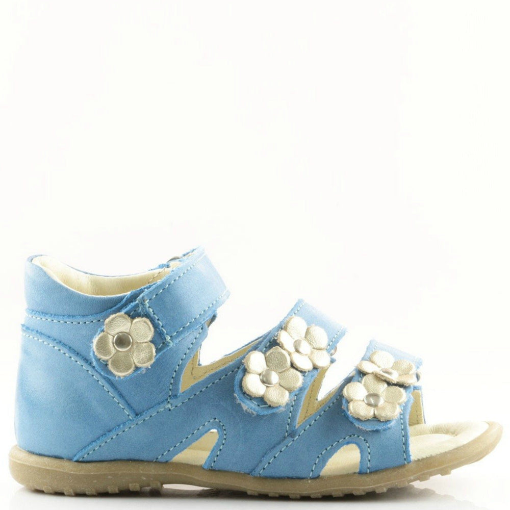 (2090-14) Emel Blue Flower Sandals