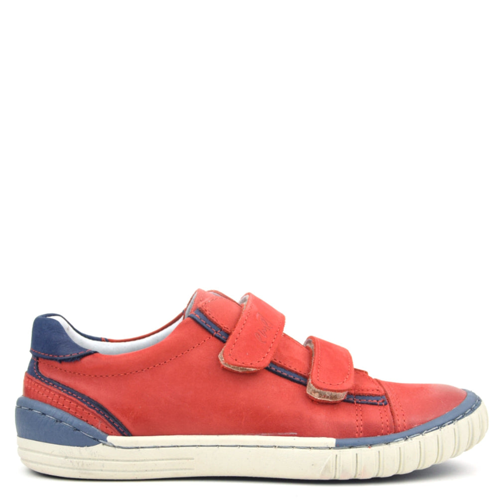 (2066-19) Red low Velcro Trainers
