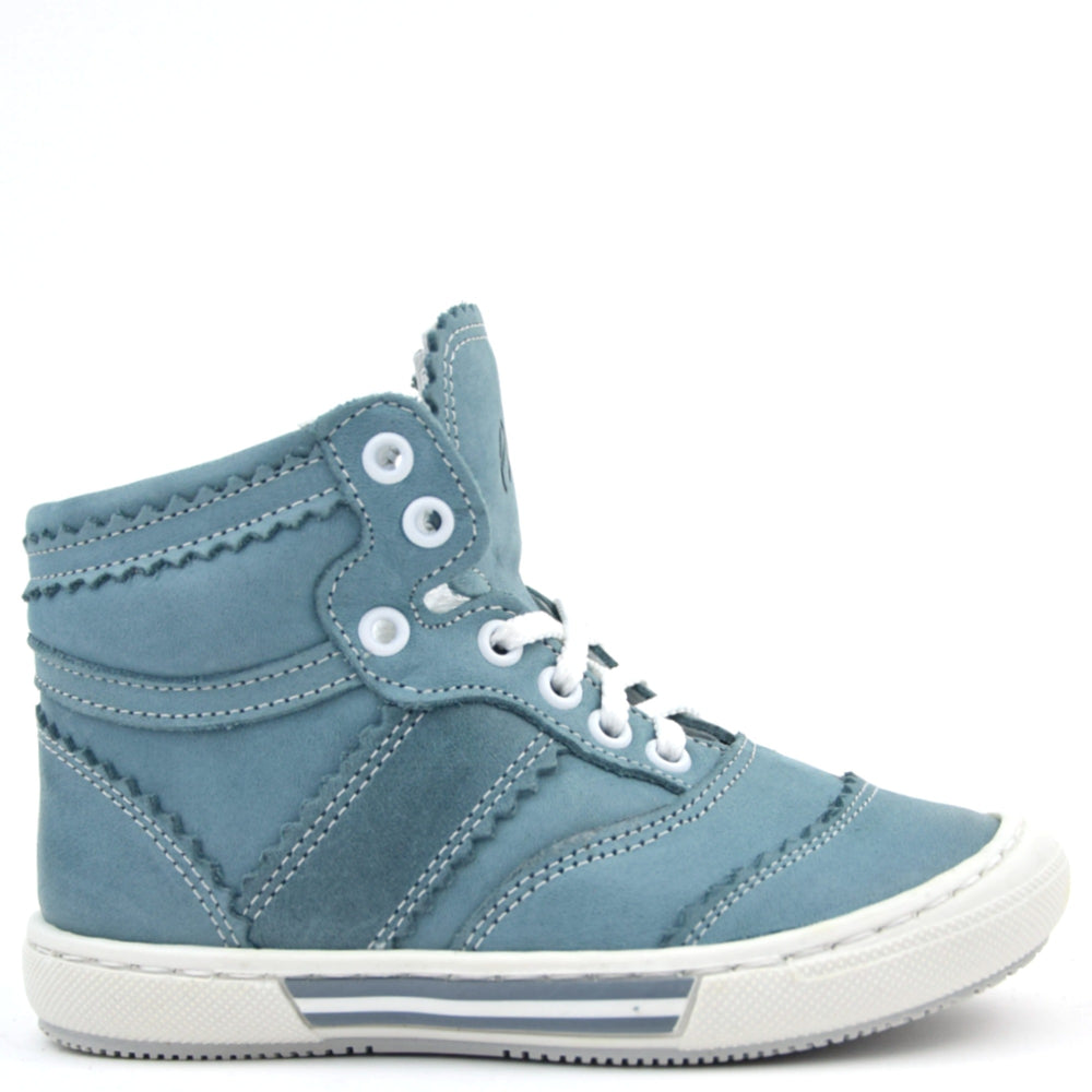 (1962-10) Emel Denim Blue Lace Up High Trainers
