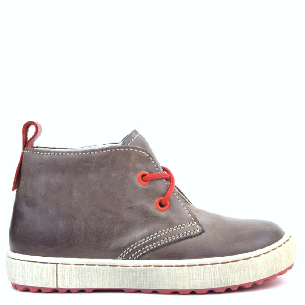 (2150-6 / 2242-6) Emel Dark Brown Lace Up Trainers