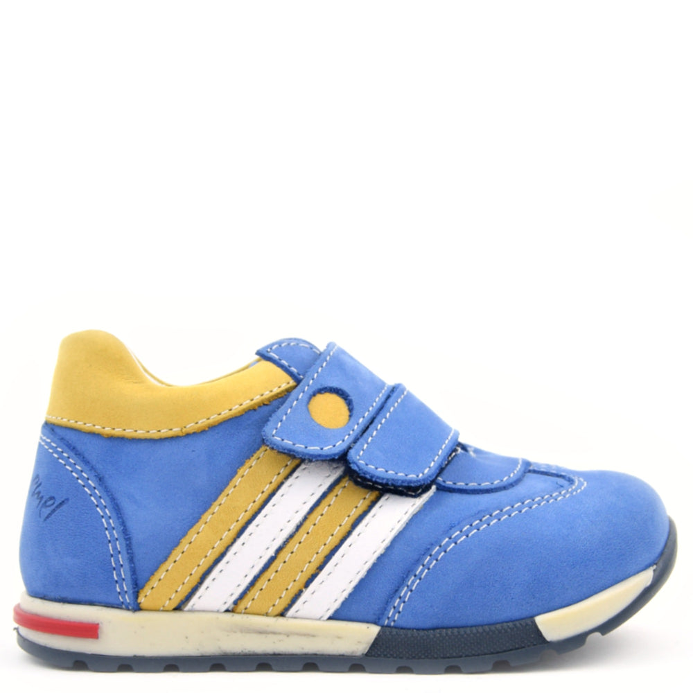 (2333-18) Emel low velcro Trainers - blue