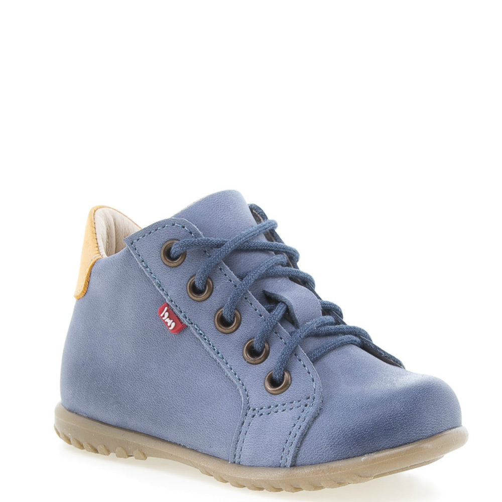 (1101-18) Emel blue Lace Up First Shoes - MintMouse (Unicorner Concept Store)