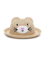 Cat straw hat (1-6 years) - MintMouse (Unicorner Concept Store)