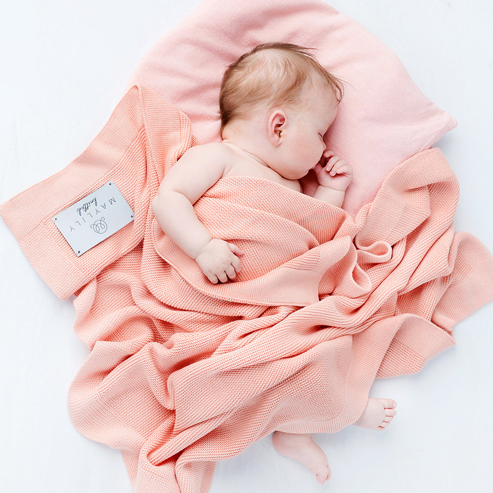 Bamboolove blanket Maylily - coral