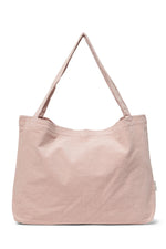 Chunky mom-bag ribbed pink