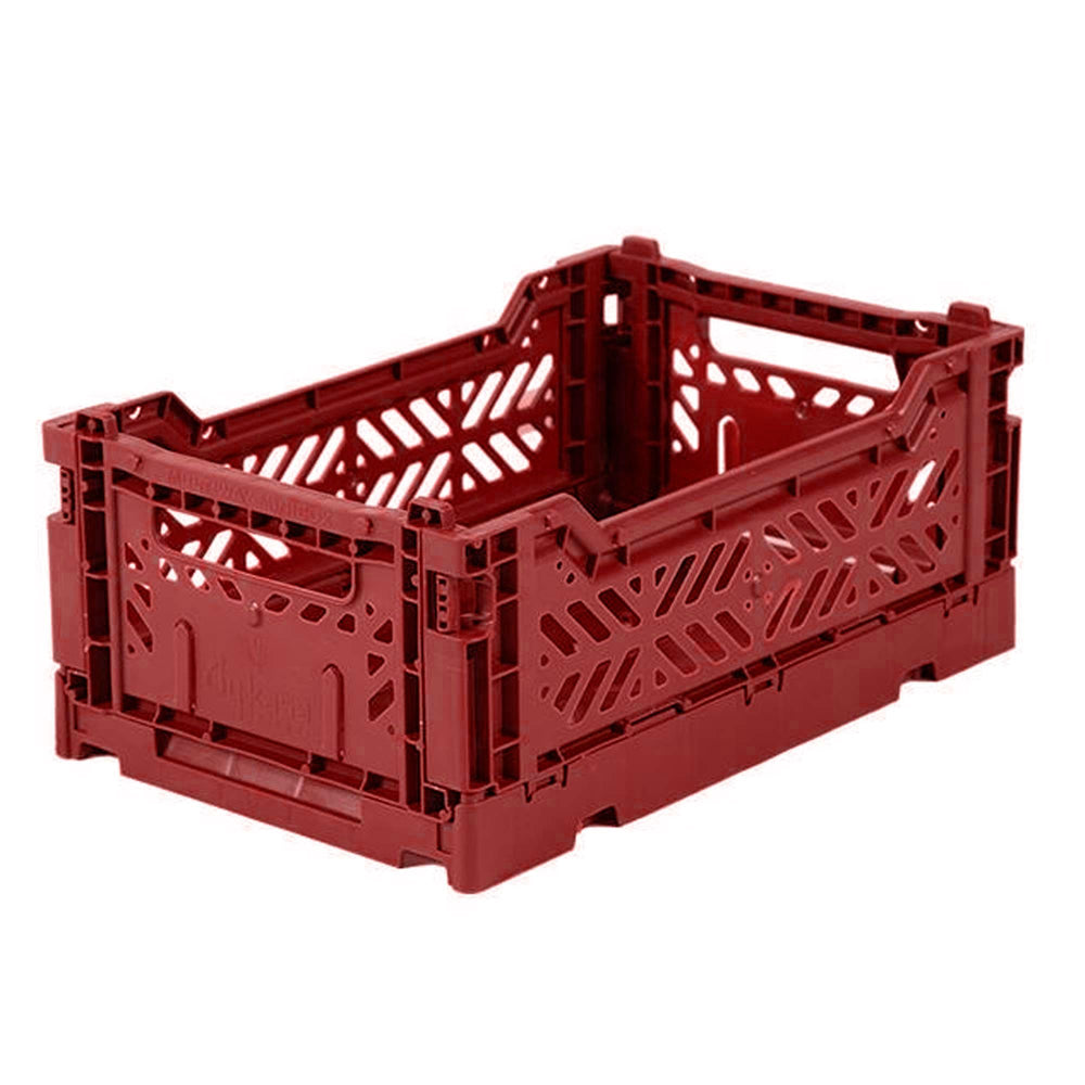 Folding crate Minibox -Tile red