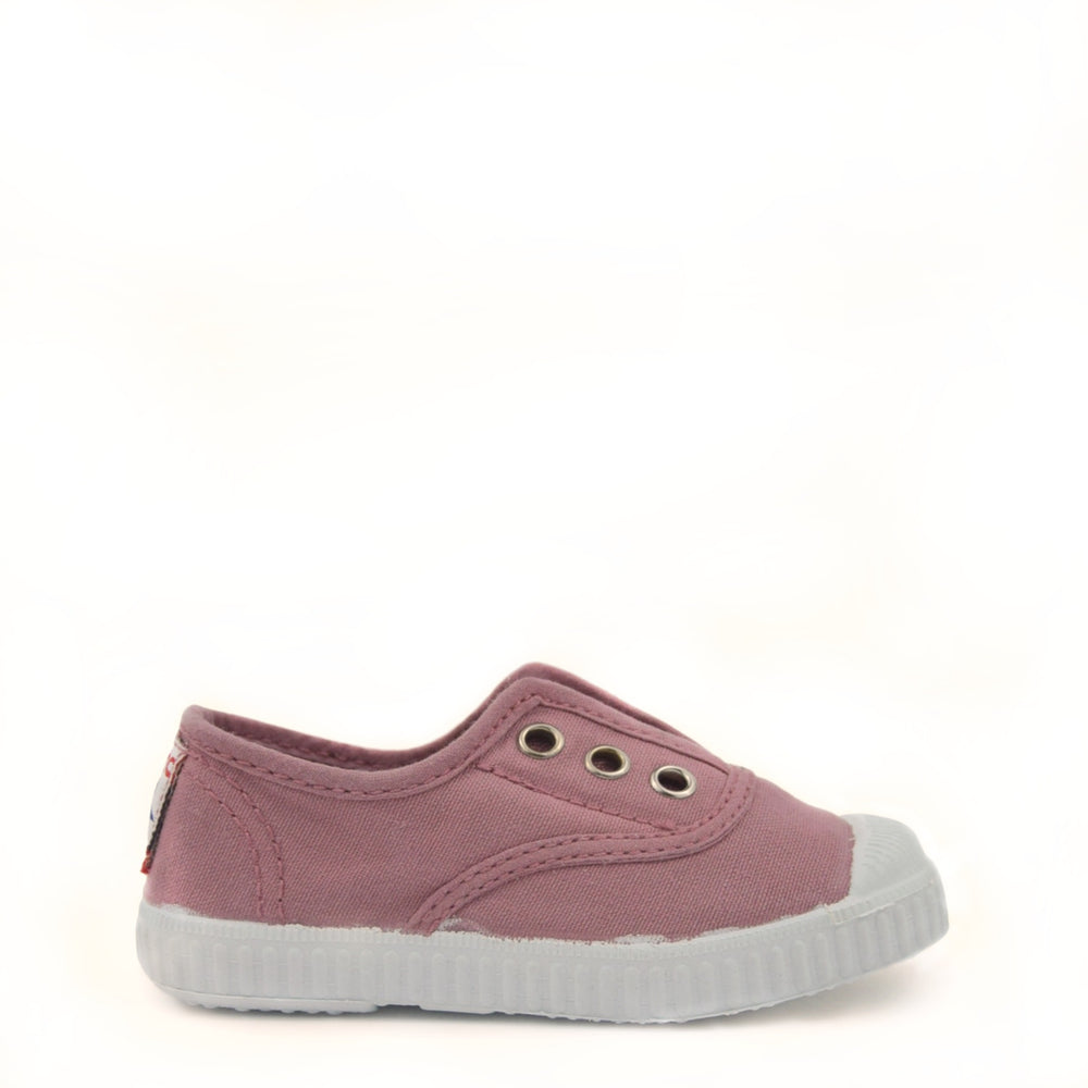 Cienta fabric slip-ons - dirty pink
