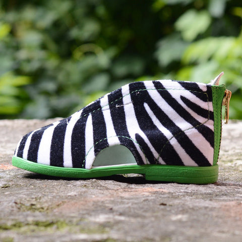 Zebra Slippers Green 36.90 - 30%!
