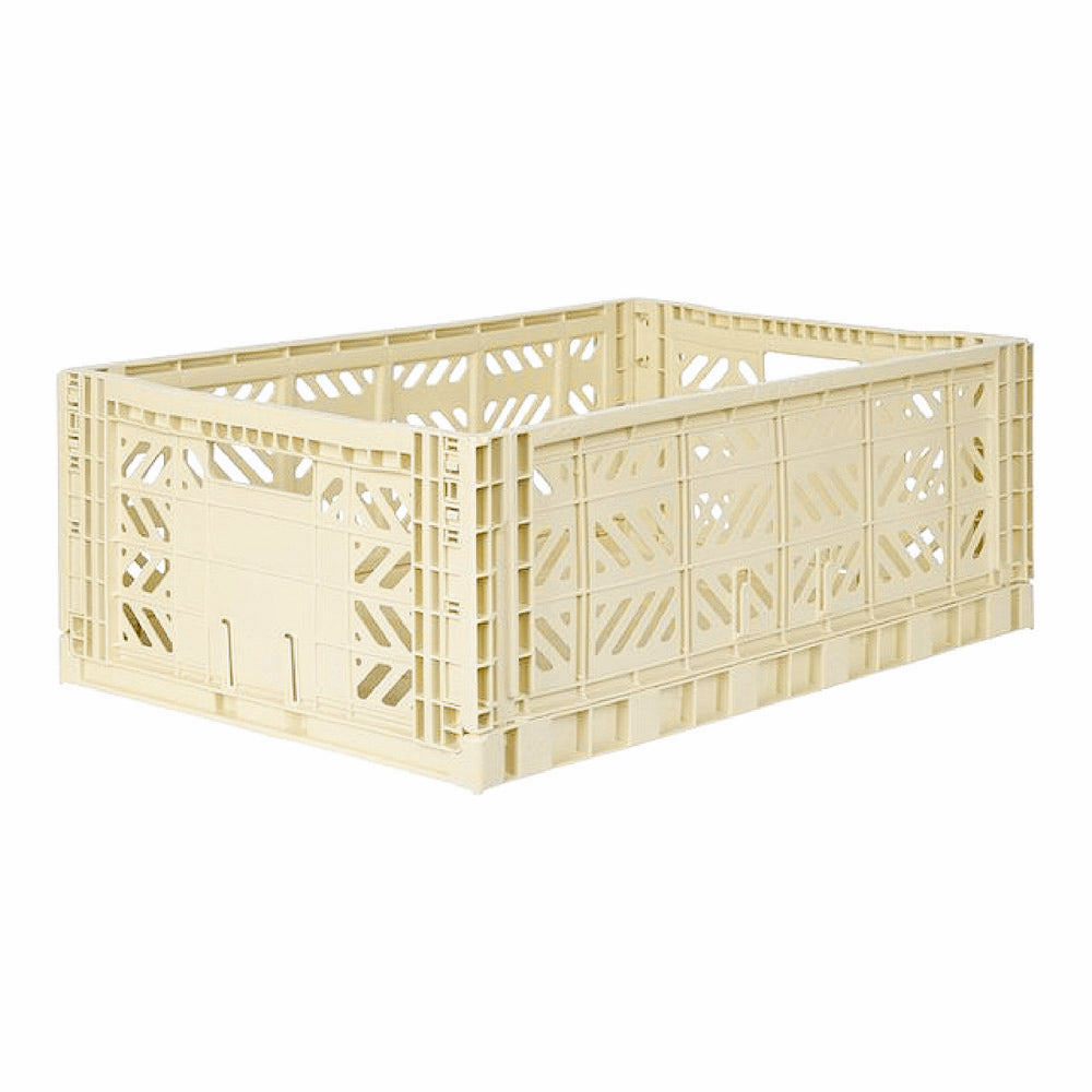 Folding crate Maxibox - Banana