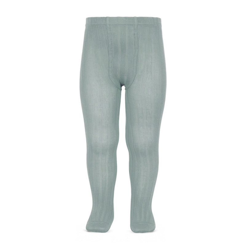 Tights ribbed basic - dry green