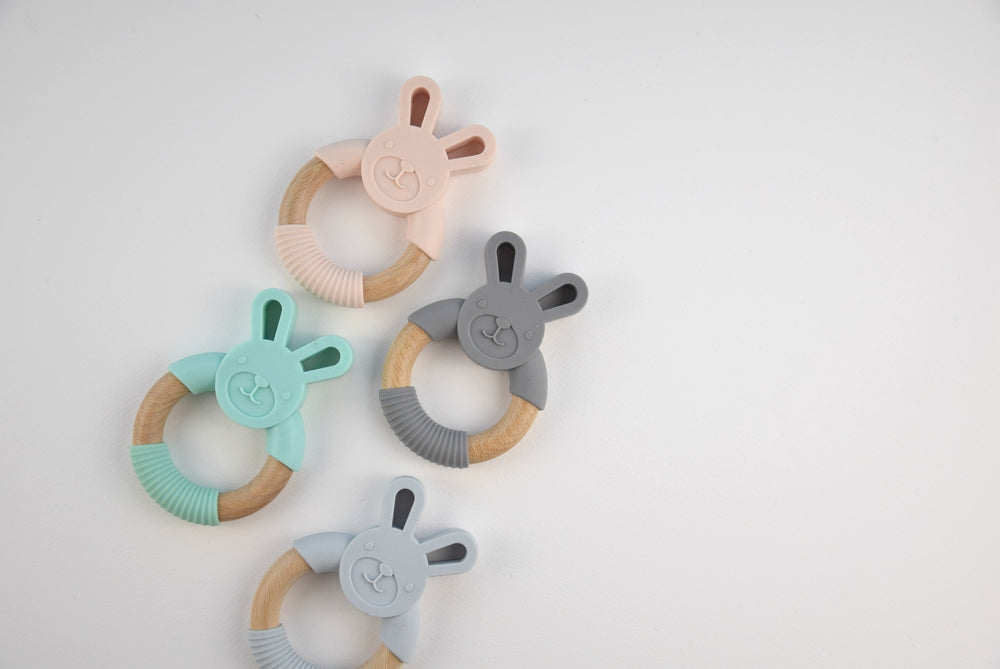 Silicone bunny teether - pink - MintMouse (Unicorner Concept Store)