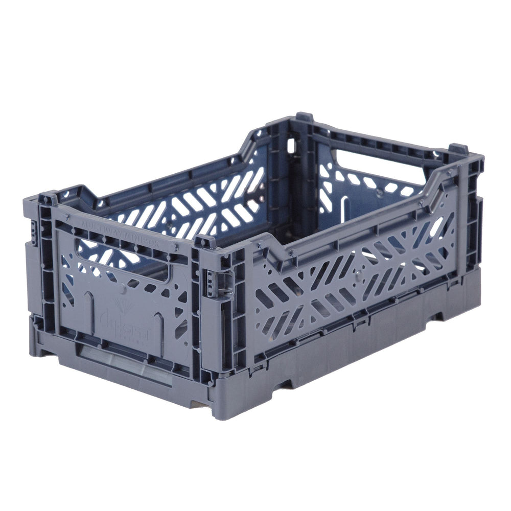Folding crate Minibox - cobalt blue