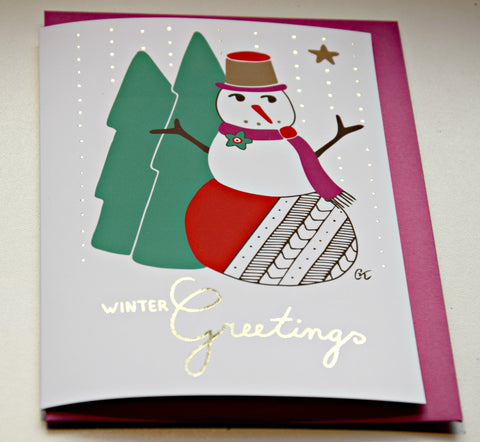 Christmas wish card - Winter Greetings