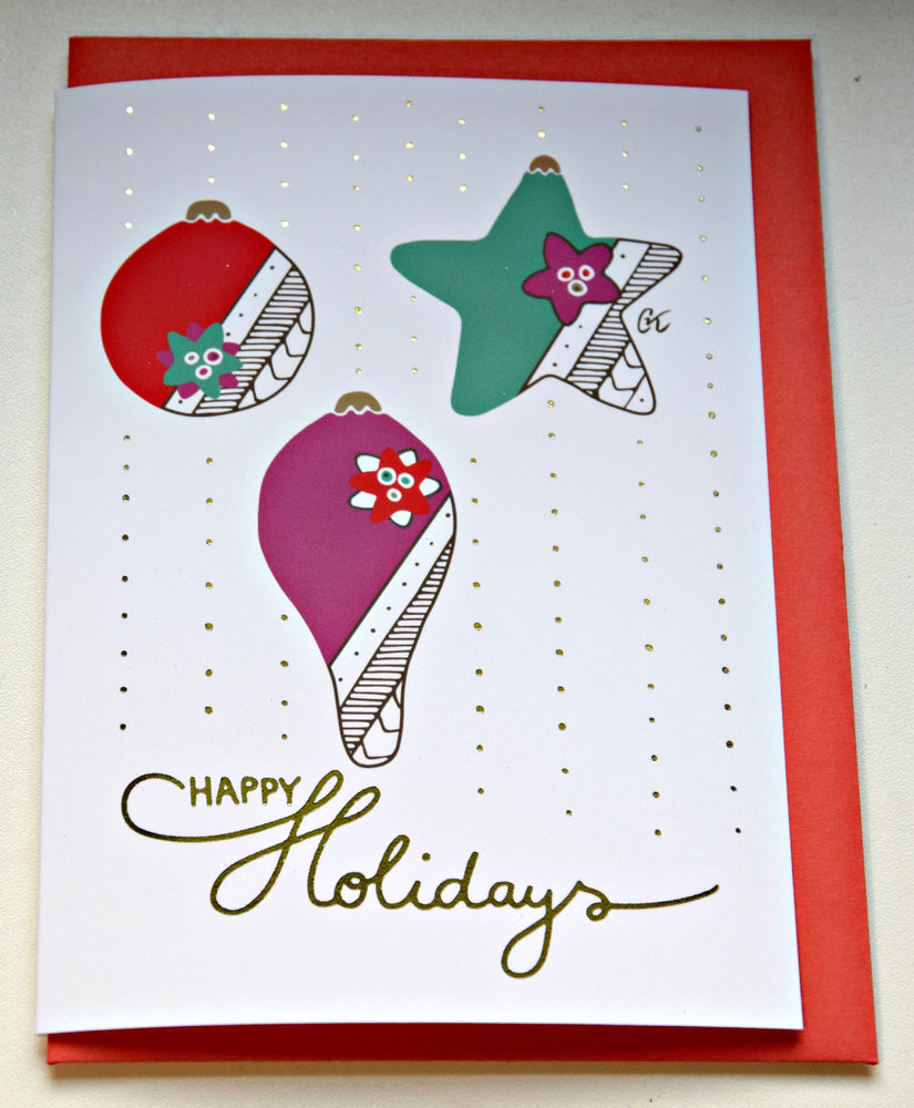 Christmas wish card - Happy Holidays