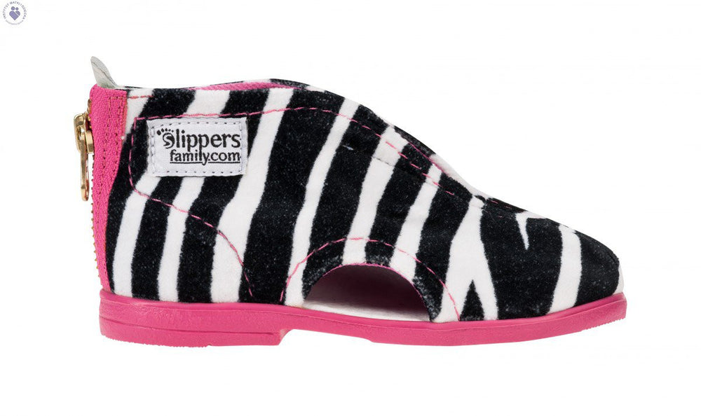 Zebra Slippers Pink