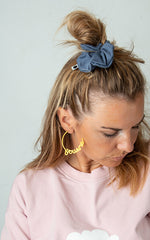 Scrunchie  dirty blue