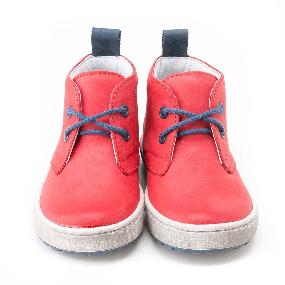 (2150-15/2242-15) Emel red Lace Up Trainers