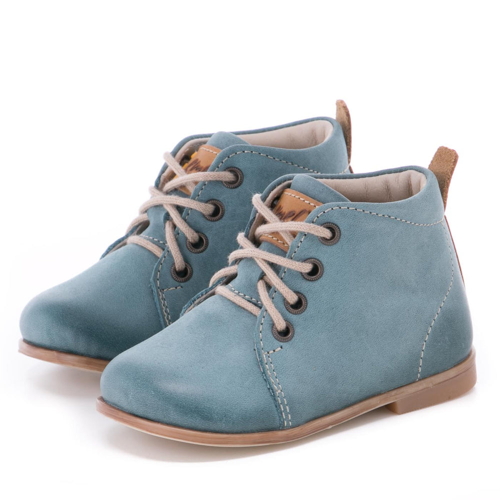(1075-2) Emel blue First Shoes