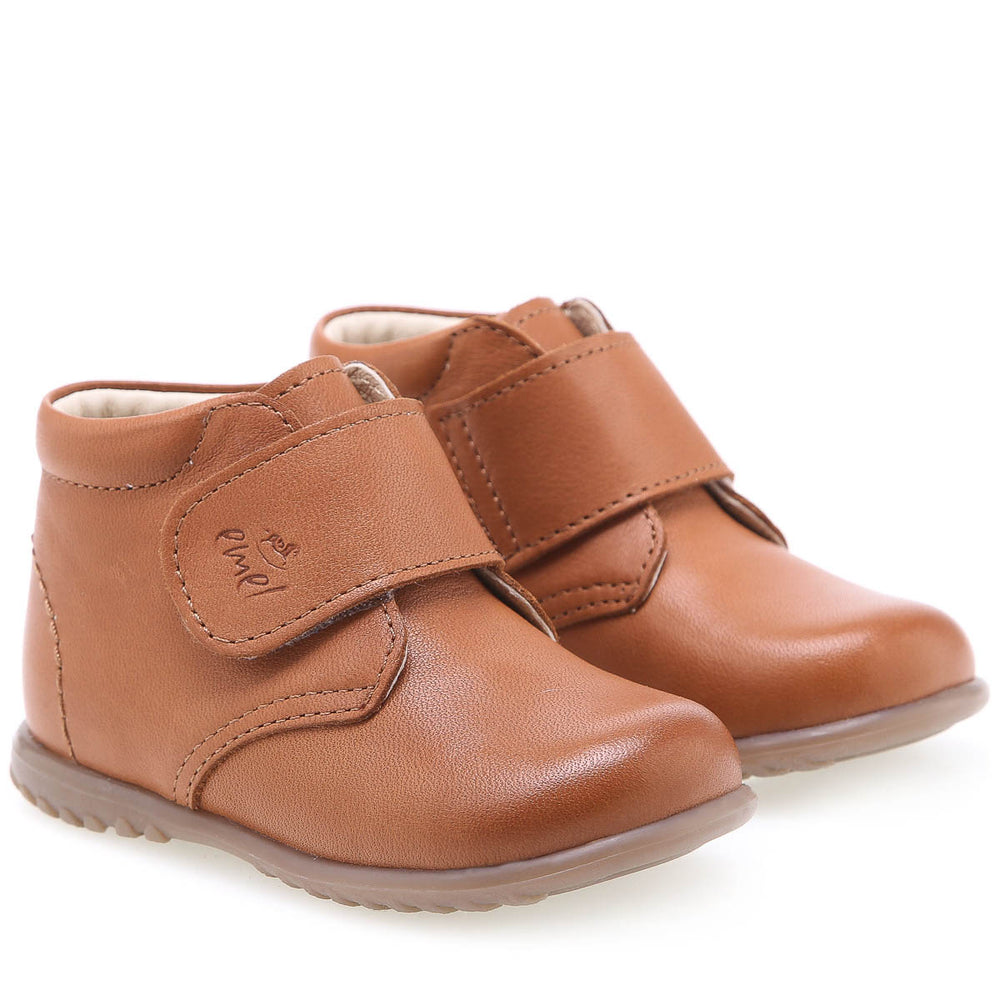 (1077D-2) Emel first shoes velcro brown