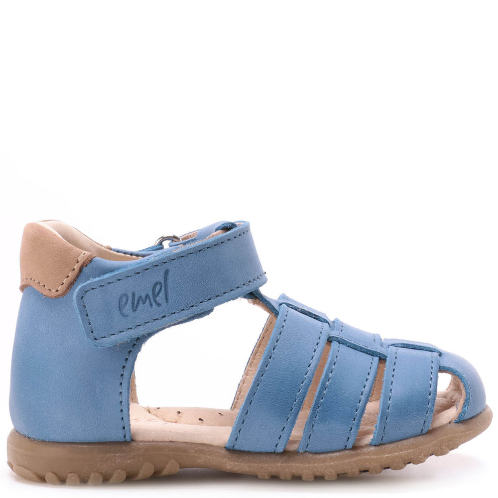 (1078-4) Emel blue closed sandals