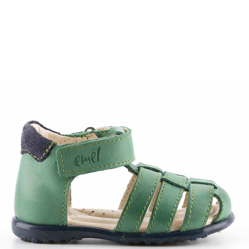 (1078-6) Emel green closed sandals