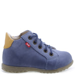 (1101-18) Emel blue Lace Up First Shoes