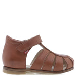(1151A-1) Emel brown closed sandals