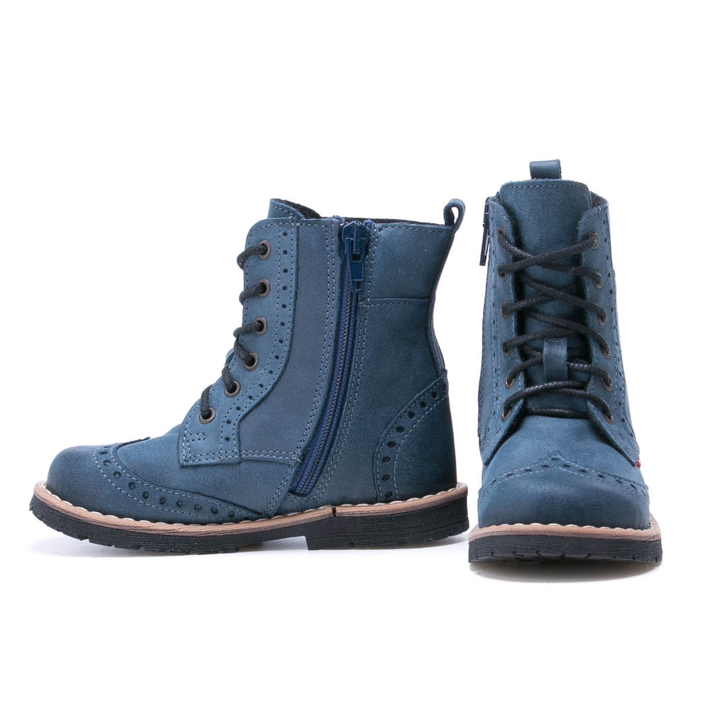 Emel blue winter Boots with zipper (1183) - MintMouse (Unicorner Concept Store)
