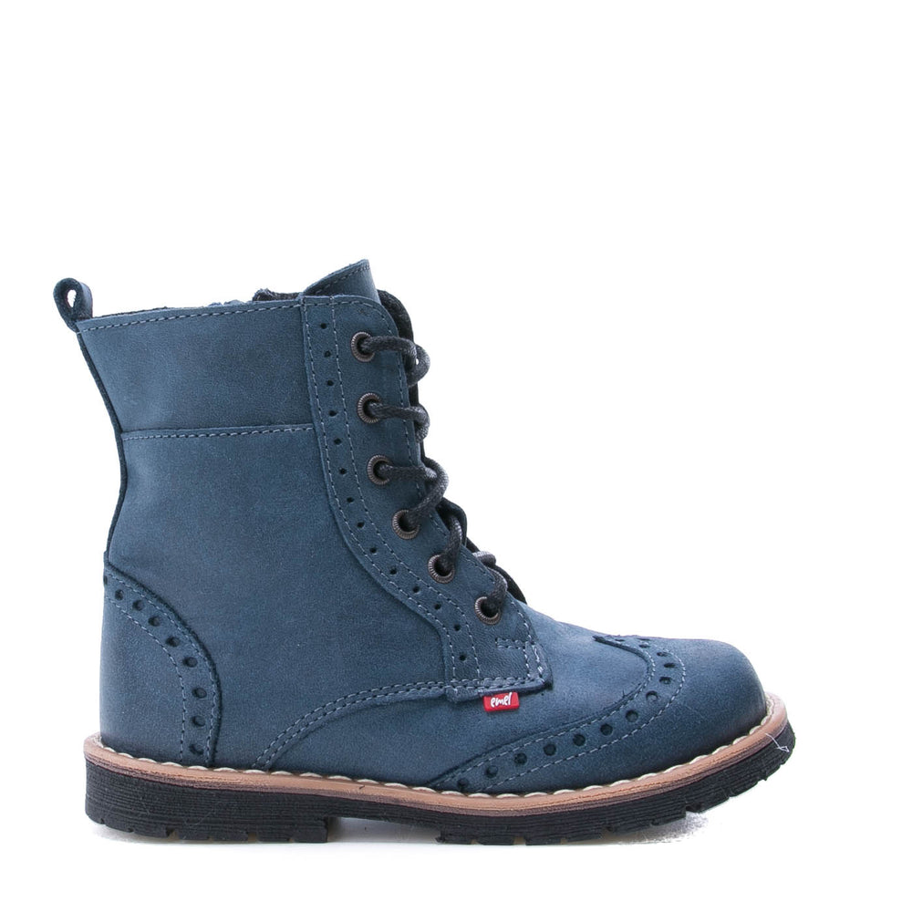 Emel blue winter Boots with zipper (1183)