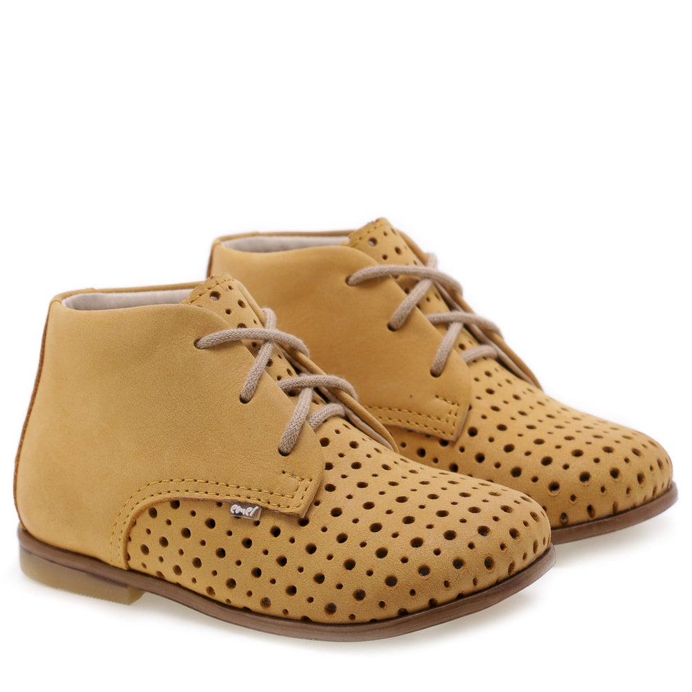 (1426-1) Emel perforated classic first shoes yellow - MintMouse (Unicorner Concept Store)