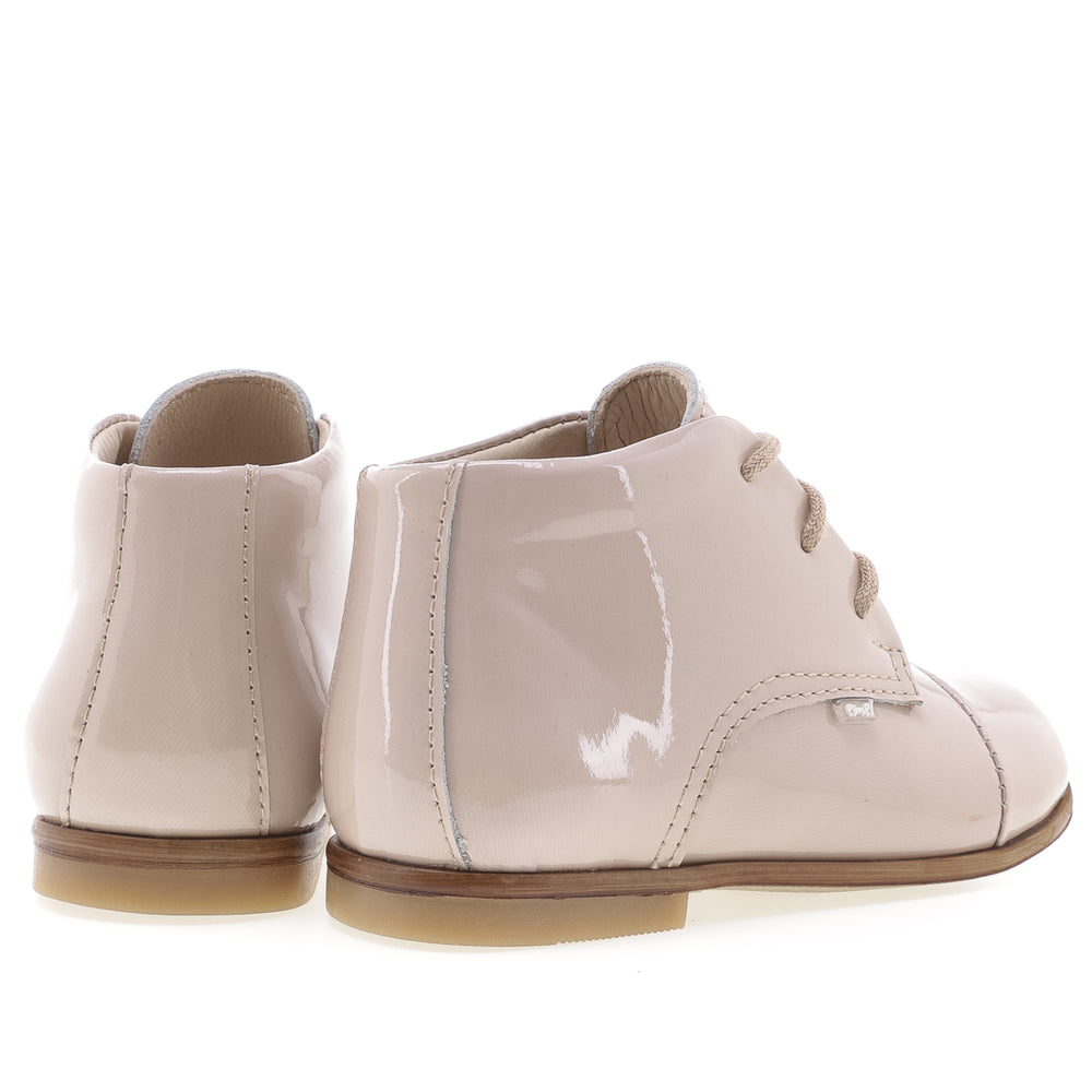 (1427-7) Emel classic first shoes beige patent leather