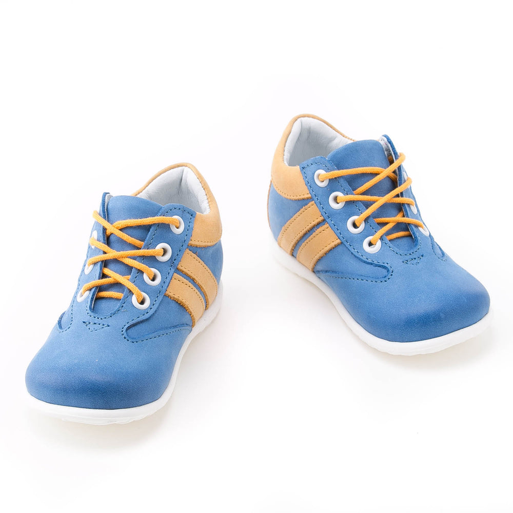 (2045-18) Blue Lace Up First Shoes - MintMouse (Unicorner Concept Store)