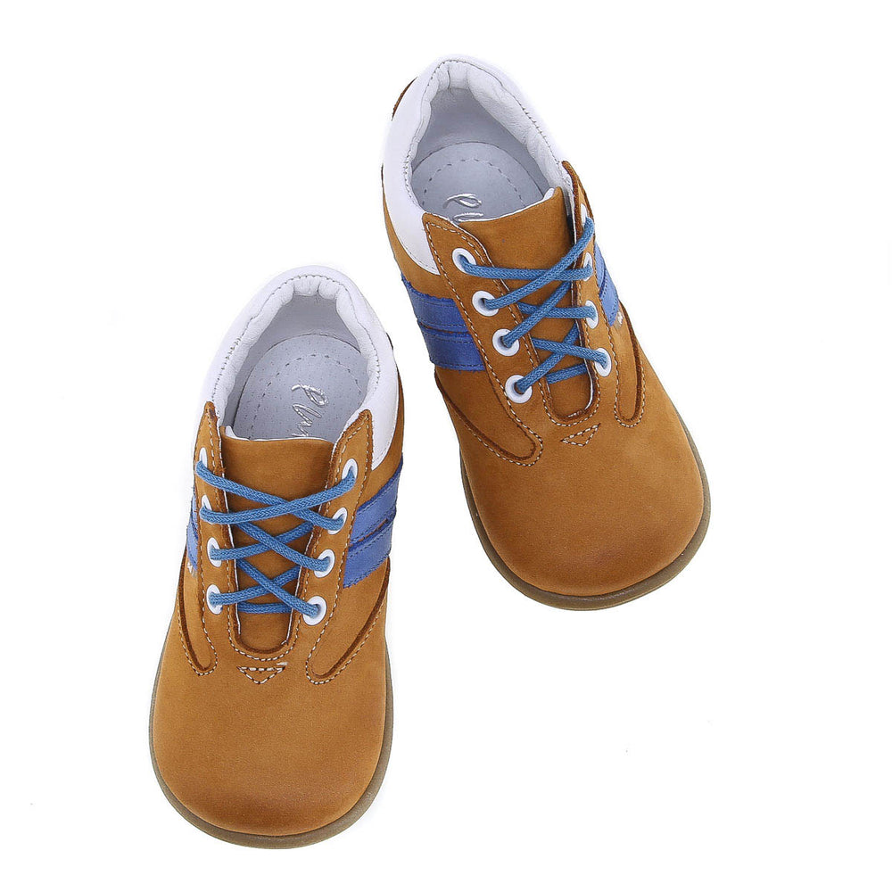 (2045-23) Mustard Blue Lace Up First Shoes - MintMouse (Unicorner Concept Store)