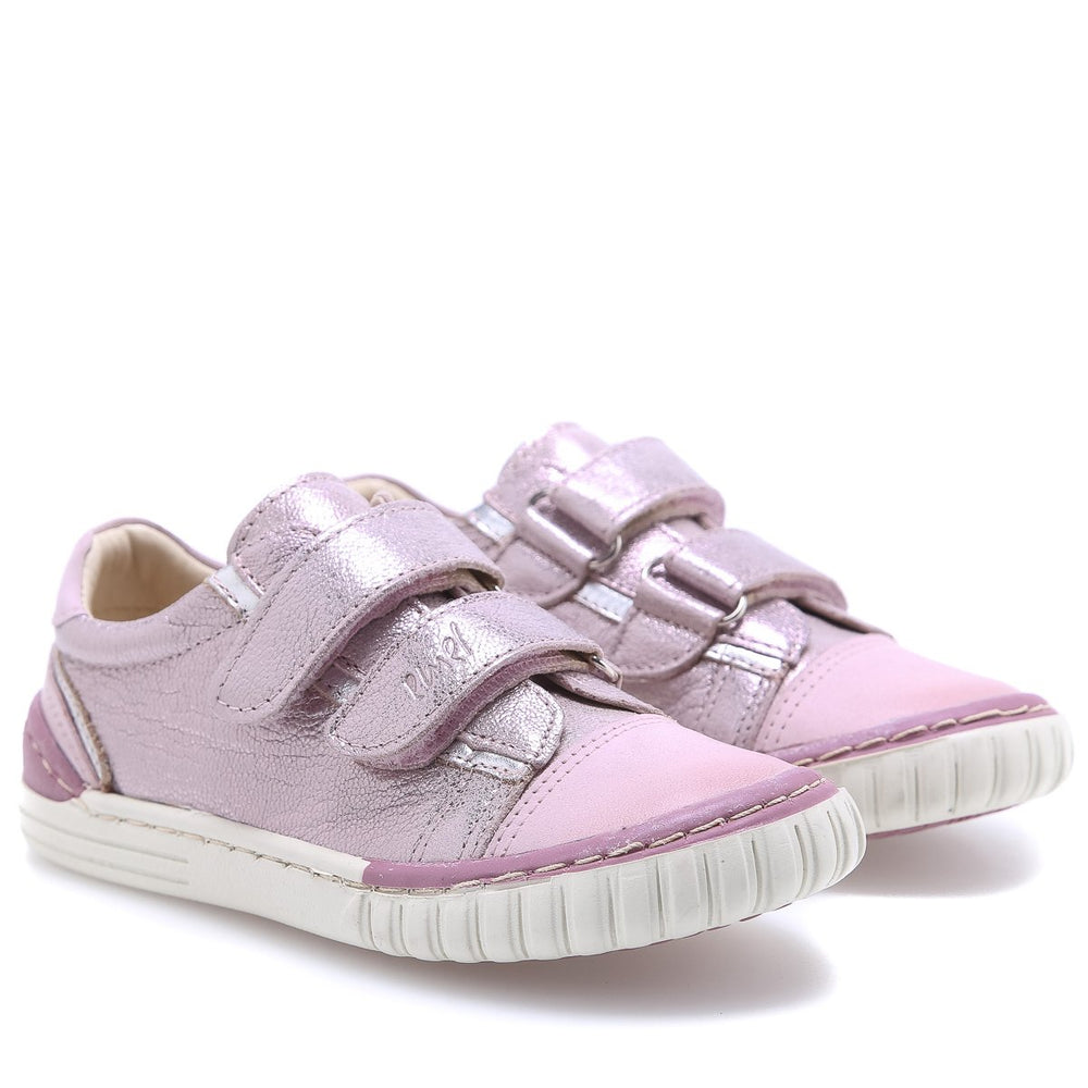 (2066-17/2071-17) Pink shiny low Velcro Trainers - MintMouse (Unicorner Concept Store)
