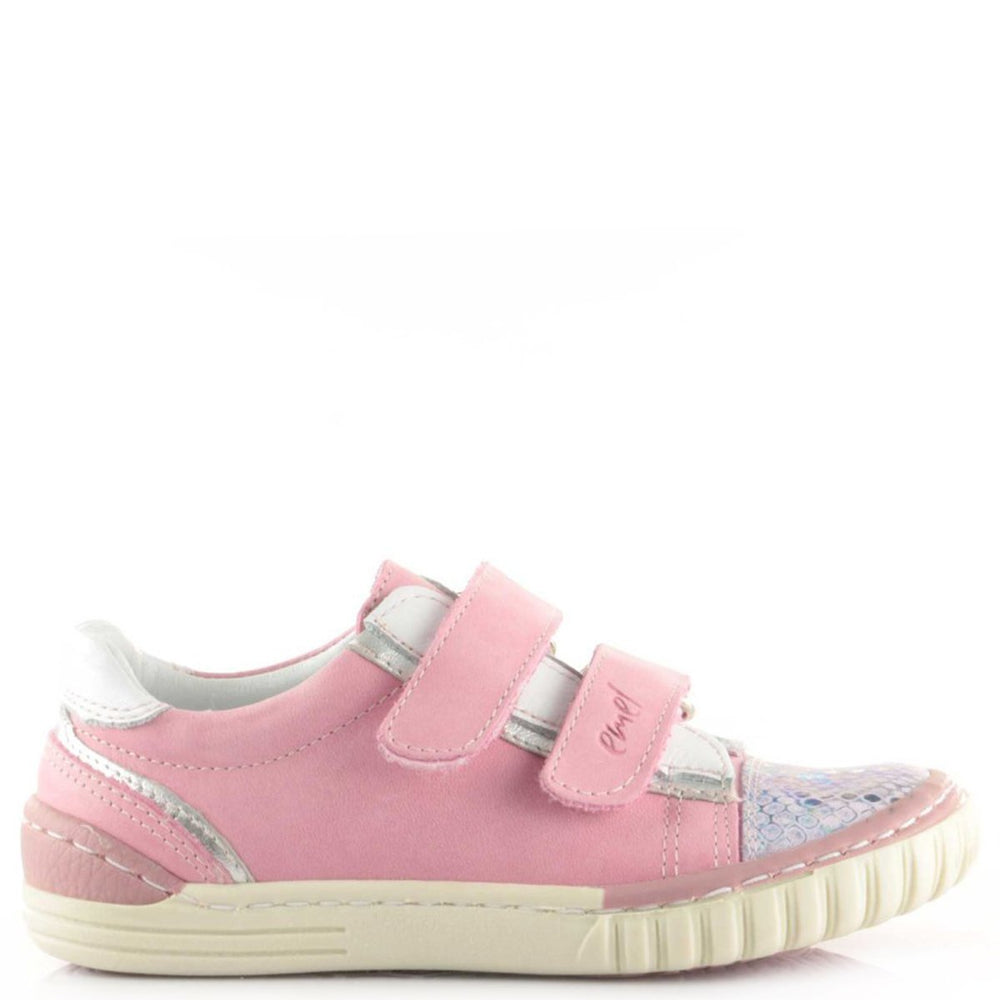 (2066-8 / 2071-8) Pink low Velcro Trainers