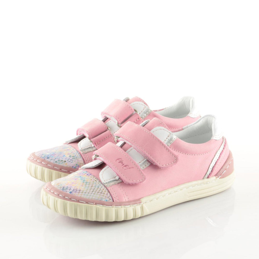 (2066-8) Pink low Velcro Trainers