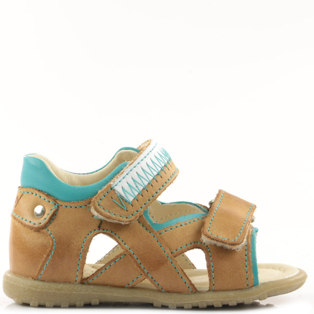 (2086-11) Emel cognac first Sandals